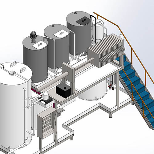 Galvanized plant installation | Chemical Purification Systems-4