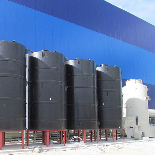 Galvanized plant installation | Chemical Storage Systems-2