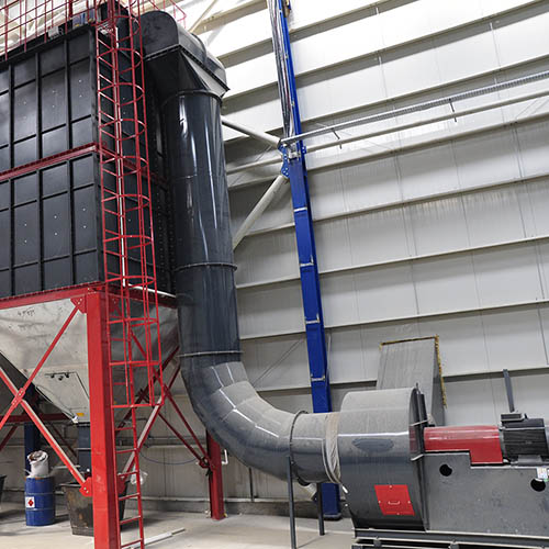 Galvanized plant installation | Dust Collector Filter Systems-8